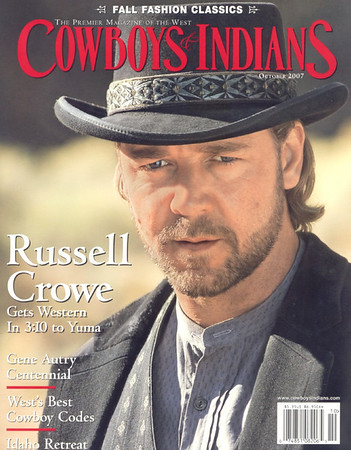 Russell Crowe Cowboys & Indians October 2007