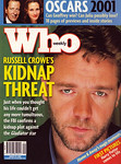Russell Crowe Who March 19, 2001